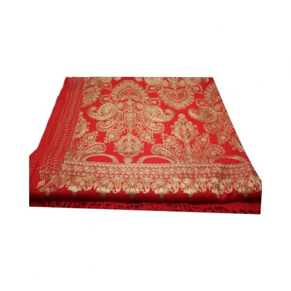 Buy Pashmina Woolen Stole with Heavy Golden Embroidery